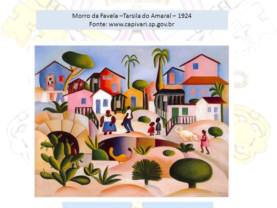 Morro da Favela –Tarsila do Amaral – 1924 Fonte: www.capivari.sp.gov.br