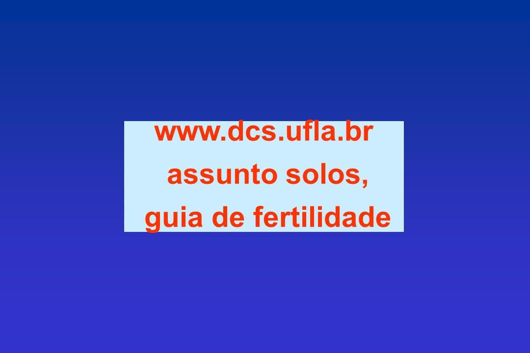 www.dcs.ufla.br assunto solos, guia de fertilidade