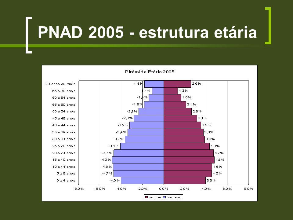 PNAD 2005 - estrutura etária