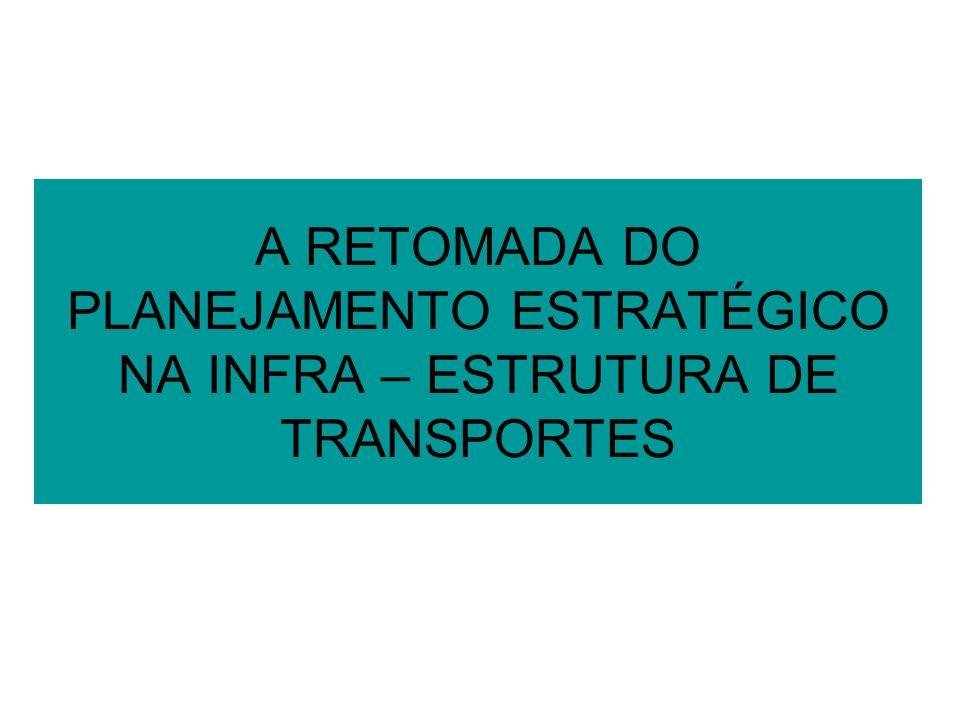 A RETOMADA DO PLANEJAMENTO ESTRATÉGICO NA INFRA – ESTRUTURA DE TRANSPORTES
