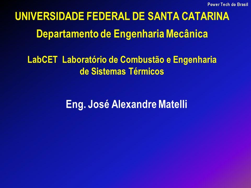 UNIVERSIDADE FEDERAL DE SANTA CATARINA Departamento de Engenharia Mecânica LabCET Laboratório de Combustão e Engenharia de Sistemas Térmicos Eng. José