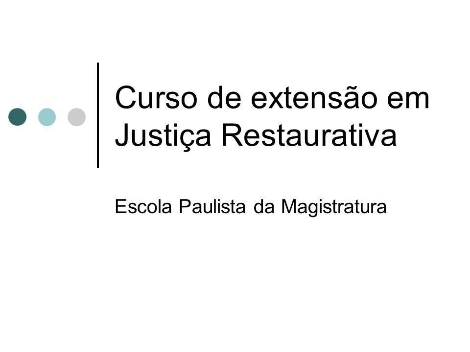 Curso de extensão em Justiça Restaurativa Escola Paulista da Magistratura