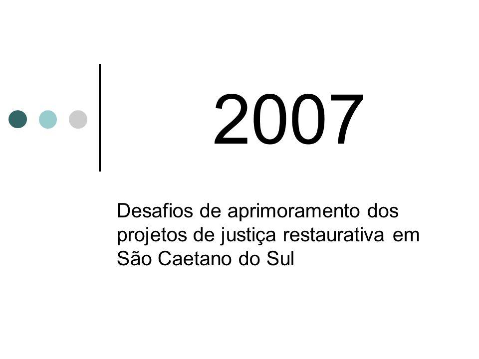 2007 Desafios de aprimoramento dos projetos de justiça restaurativa em São Caetano do Sul