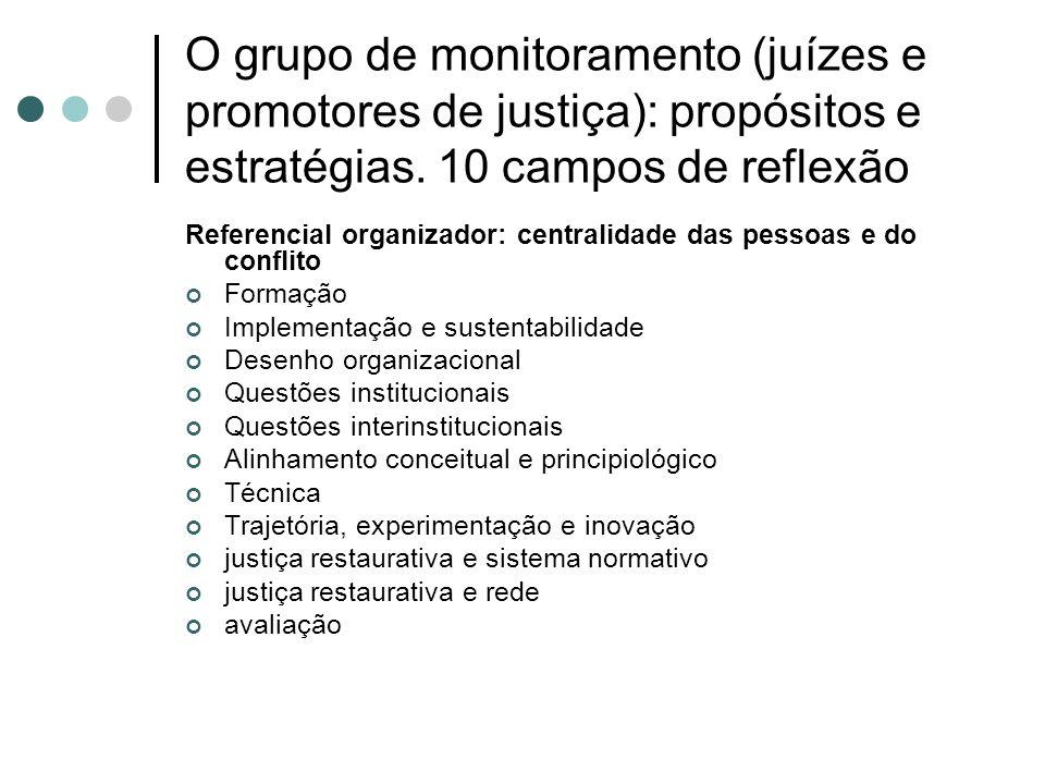 O grupo de monitoramento (juízes e promotores de justiça): propósitos e estratégias.