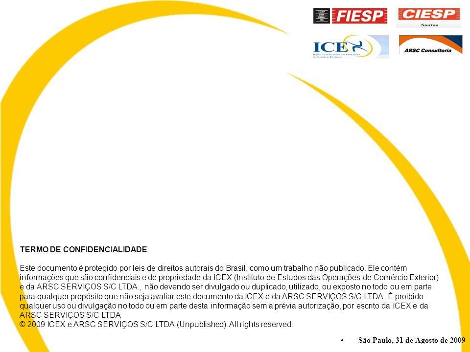 São Paulo, 31 de Agosto de 2009 TERMO DE CONFIDENCIALIDADE Este documento é protegido por leis de direitos autorais do Brasil, como um trabalho não publicado.