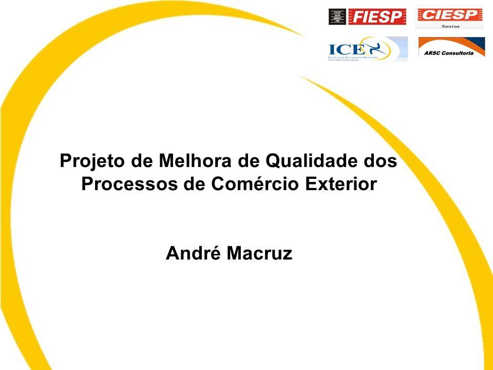 Projeto de Melhora de Qualidade dos Processos de Comércio Exterior André Macruz