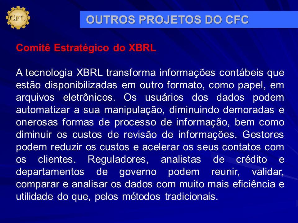 Comitê Estratégico do XBRL A tecnologia XBRL transforma informações contábeis que estão disponibilizadas em outro formato, como papel, em arquivos ele
