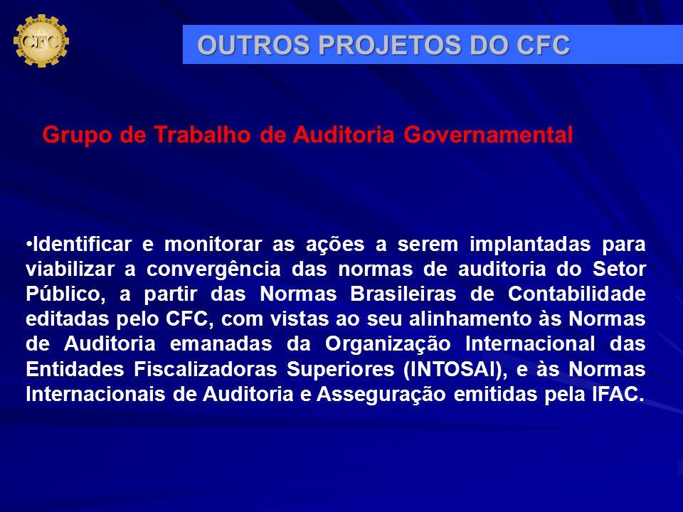 Identificar e monitorar as ações a serem implantadas para viabilizar a convergência das normas de auditoria do Setor Público, a partir das Normas Bras