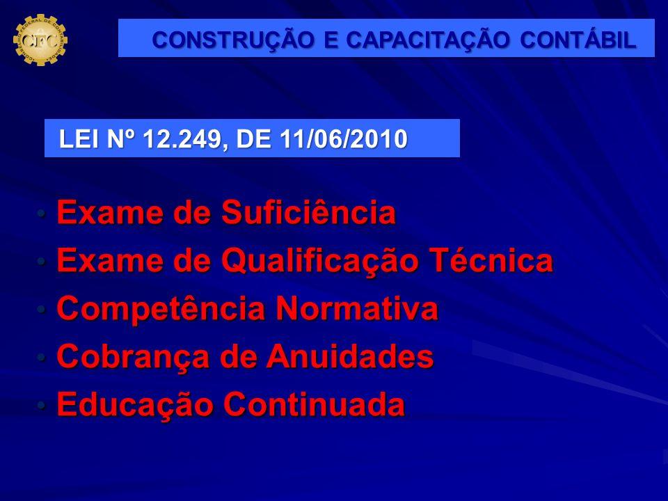Exame de Suficiência Exame de Suficiência Exame de Qualificação Técnica Exame de Qualificação Técnica Competência Normativa Competência Normativa Cobr