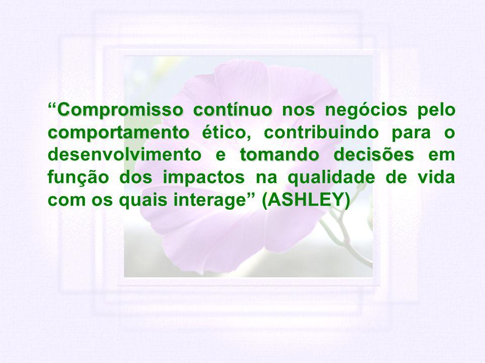 Compromisso contínuo comportamento tomando decisõesCompromisso contínuo nos negócios pelo comportamento ético, contribuindo para o desenvolvimento e t