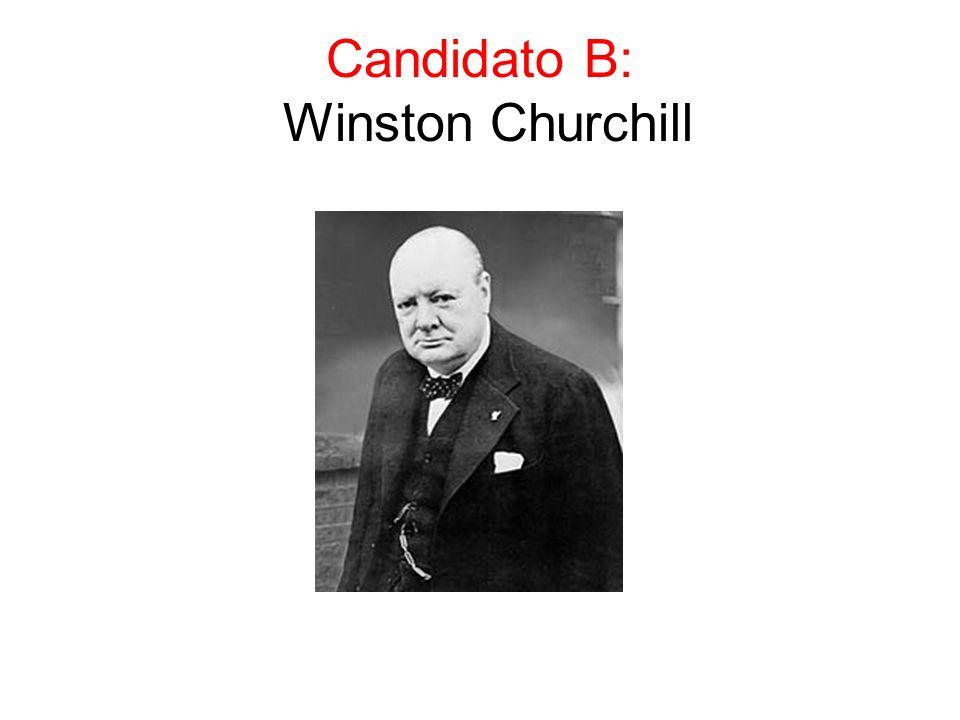 Candidato B: Winston Churchill