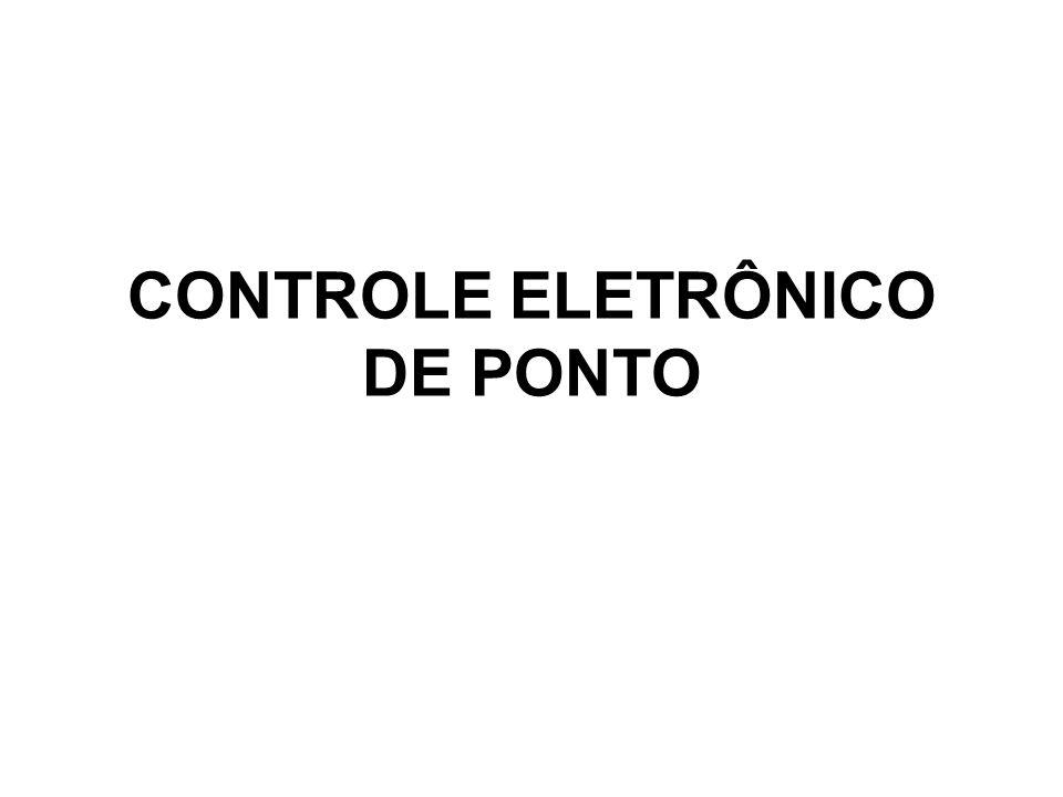 CONTROLE ELETRÔNICO DE PONTO