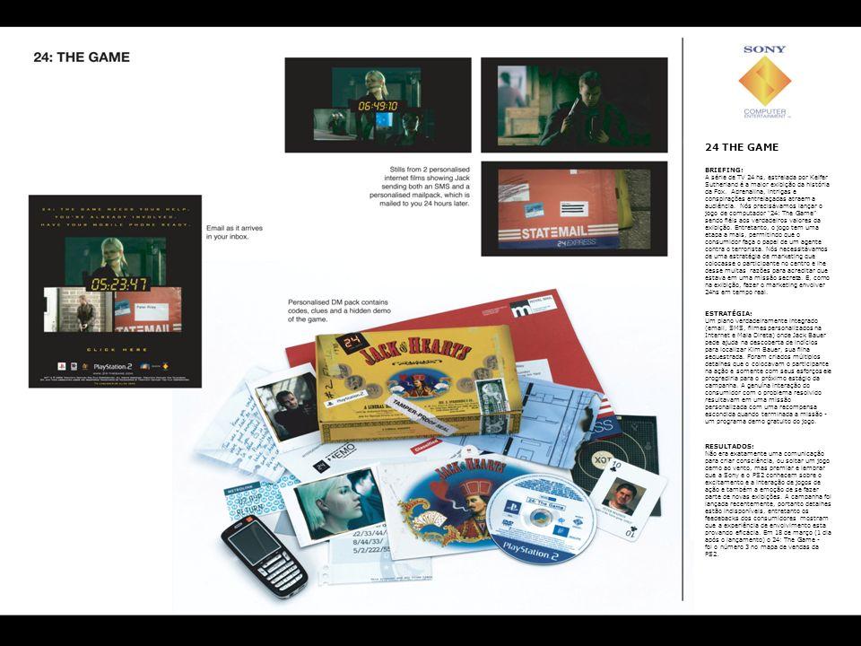 24 THE GAME BRIEFING: A série de TV 24 hs, estrelada por Keifer Sutherland é a maior exibição da história da Fox. Adrenalina, intrigas e conspirações