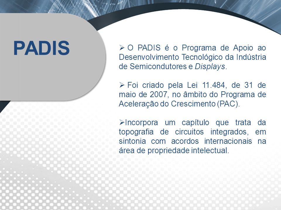O PADIS é o Programa de Apoio ao Desenvolvimento Tecnológico da Indústria de Semicondutores e Displays. Foi criado pela Lei 11.484, de 31 de maio de 2