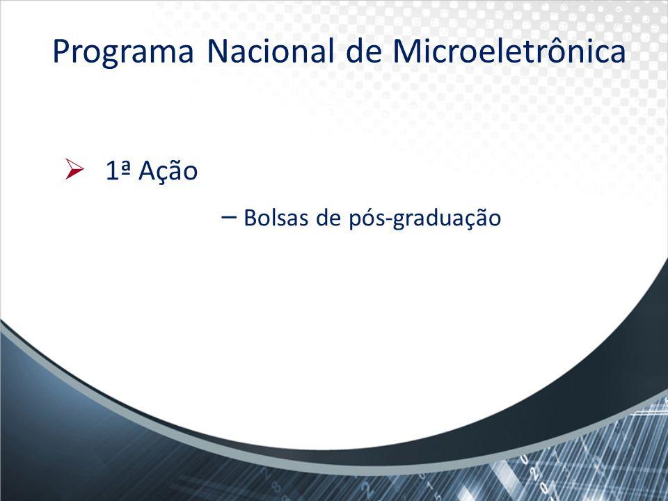 Programa Nacional de Microeletrônica 1ª Ação – Bolsas de pós-graduação