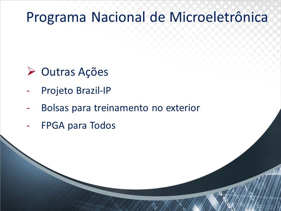 Outras Ações -Projeto Brazil-IP -Bolsas para treinamento no exterior -FPGA para Todos