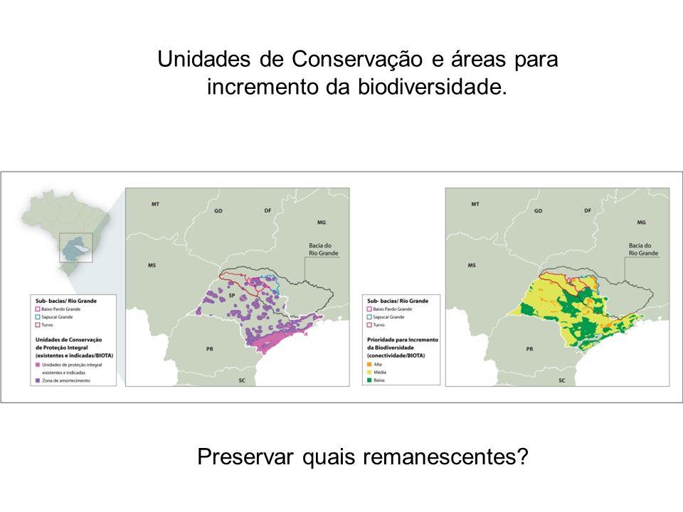 Unidades de Conservação e áreas para incremento da biodiversidade. Preservar quais remanescentes?