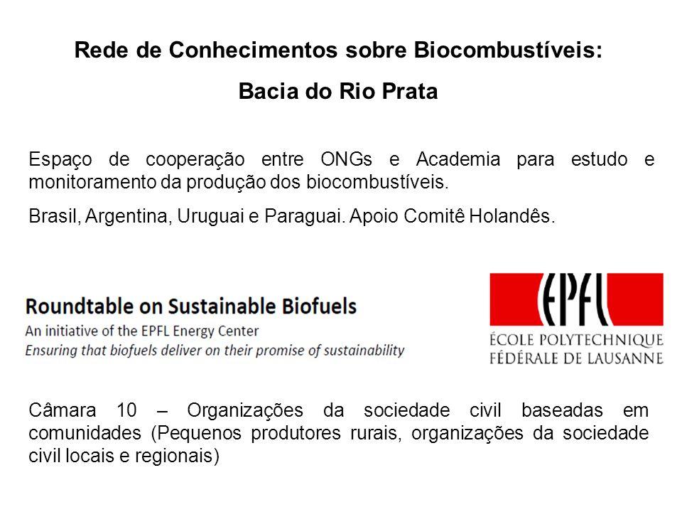 Projetos realizados Diagnóstico da expansão dos biocombustíveis na Bacia do Rio Grande, porção Triângulo Mineiro.