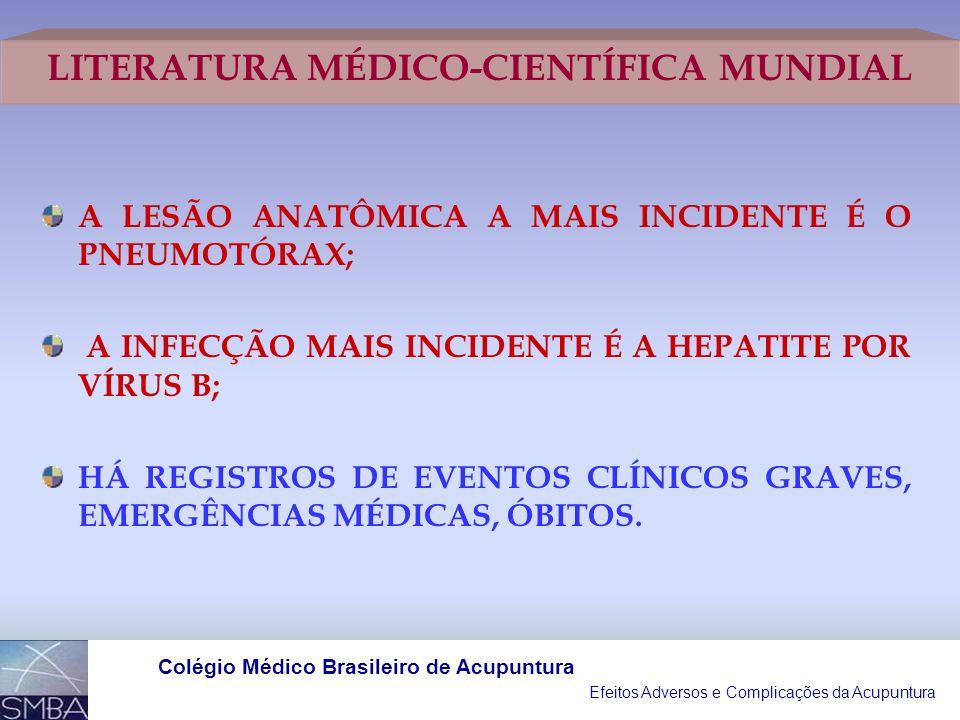 Efeitos Adversos e Complicações da Acupuntura Colégio Médico Brasileiro de Acupuntura INFECÇÕES CARDÍACAS (ENDOCARDITE), POR APLICAÇÃO DA ACUPUNTURA E