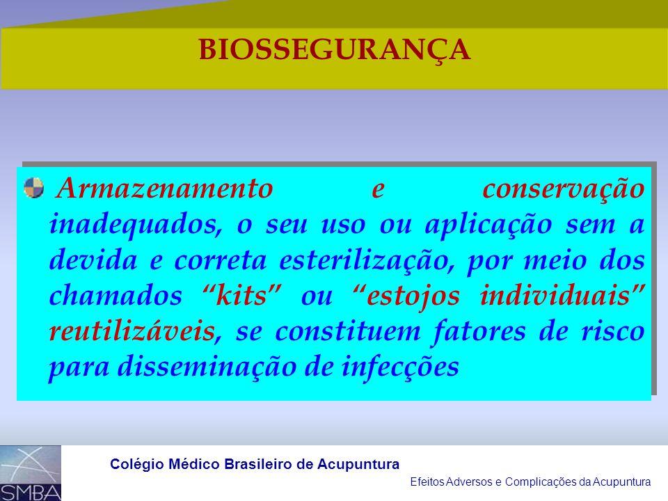 Efeitos Adversos e Complicações da Acupuntura Colégio Médico Brasileiro de Acupuntura Os locais de inserção encontram-se superpostos a órgãos internos