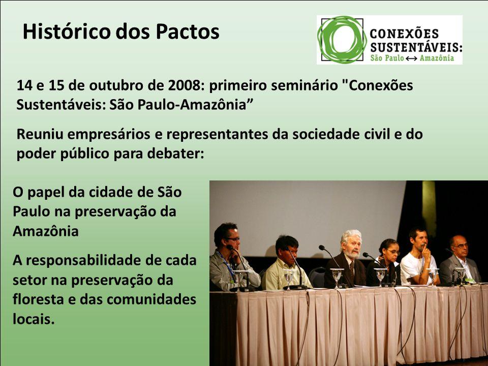 Histórico dos Pactos 14 e 15 de outubro de 2008: primeiro seminário