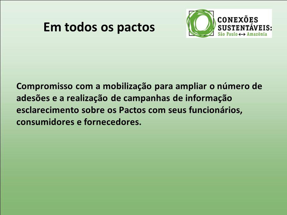 Em todos os pactos Compromisso com a mobilização para ampliar o número de adesões e a realização de campanhas de informação esclarecimento sobre os Pa