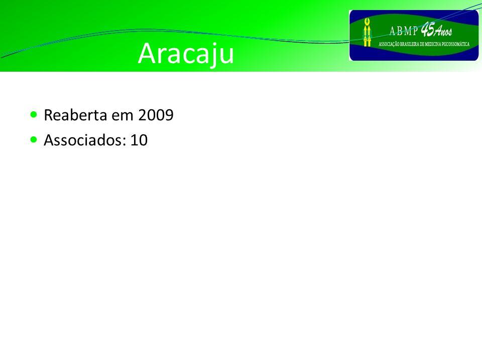 Aracaju Reaberta em 2009 Associados: 10