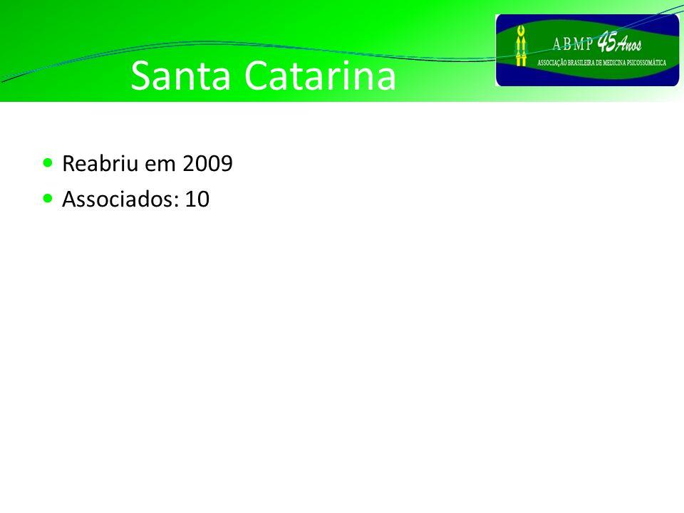 Santa Catarina Reabriu em 2009 Associados: 10