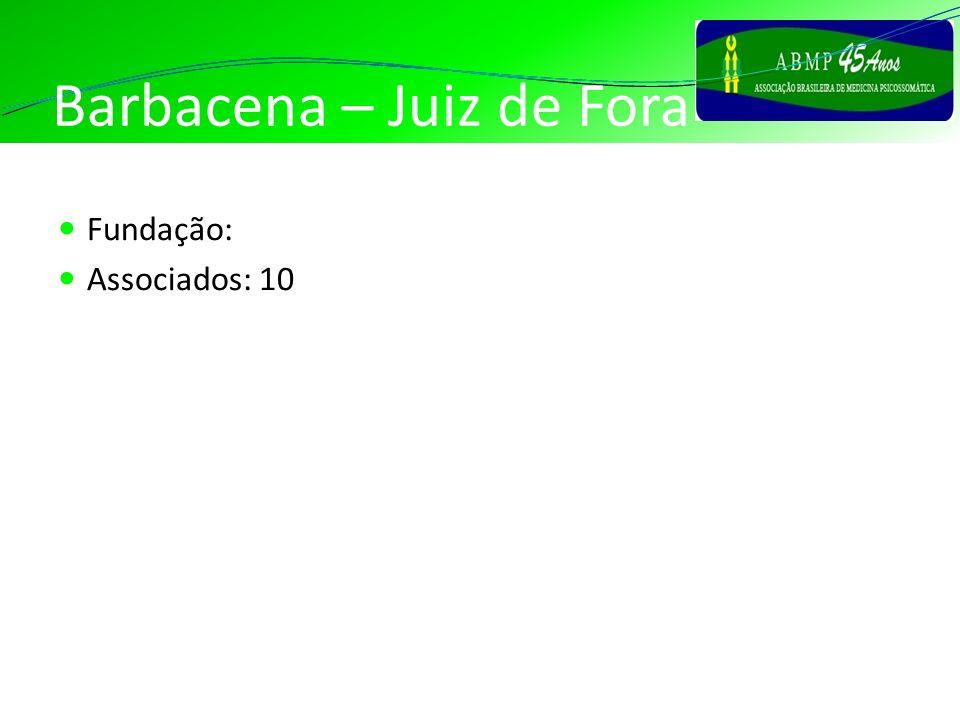 Barbacena – Juiz de Fora Fundação: Associados: 10