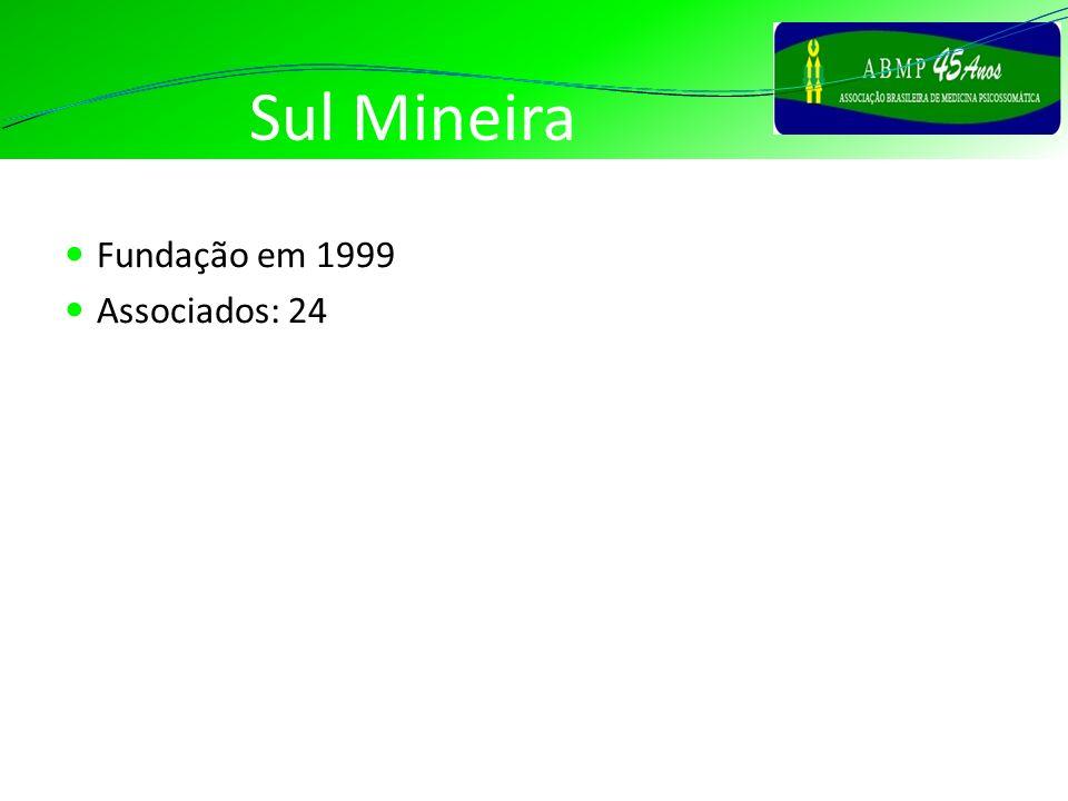 Sul Mineira Fundação em 1999 Associados: 24