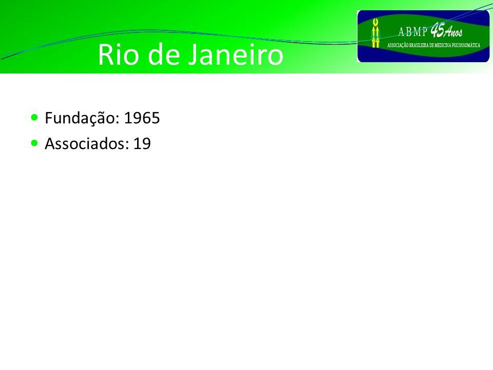 Rio de Janeiro Fundação: 1965 Associados: 19