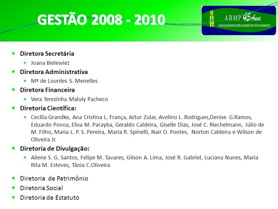 CONSELHO GESTÃO 2008 - 2010 Conselho Fiscal: Ângela C.