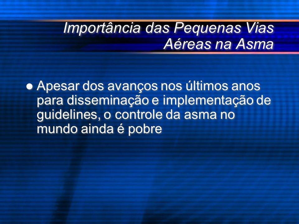 Importância das Pequenas Vias Aéreas na Asma Apesar dos avanços nos últimos anos para disseminação e implementação de guidelines, o controle da asma n