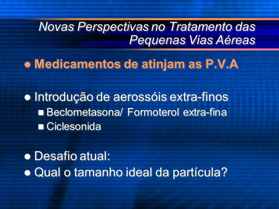 Novas Perspectivas no Tratamento das Pequenas Vias Aéreas Medicamentos de atinjam as P.V.A Introdução de aerossóis extra-finos Beclometasona/ Formoter