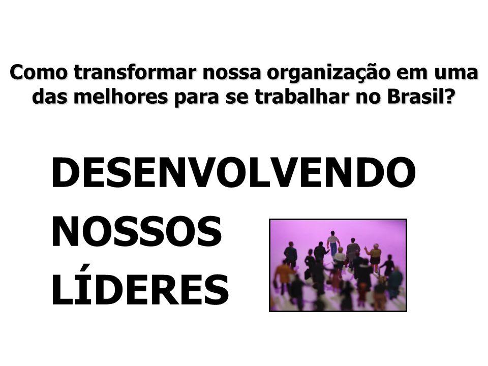 Como transformar nossa organização em uma das melhores para se trabalhar no Brasil? DESENVOLVENDO NOSSOS LÍDERES