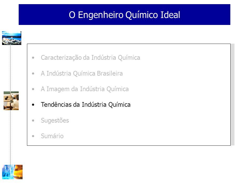 O Engenheiro Químico Ideal Caracterização da Indústria Química A Indústria Química Brasileira A Imagem da Indústria Química Tendências da Indústria Qu