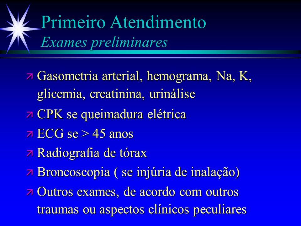 Primeiro Atendimento Profilaxia antibiótica ä Risco de doença sexualmente transmissível ä Cirurgia ortopédica ou fratura exposta ä Neurocirurgia ou fí
