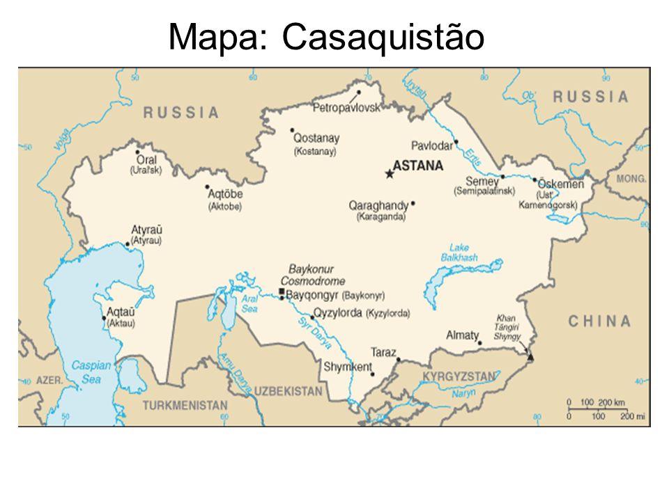 Mapa: Casaquistão