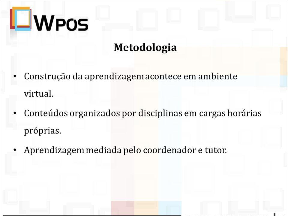 Metodologia Atividades realizadas nos chats, fórum de discussão, contatos via email, wiki, memorial.