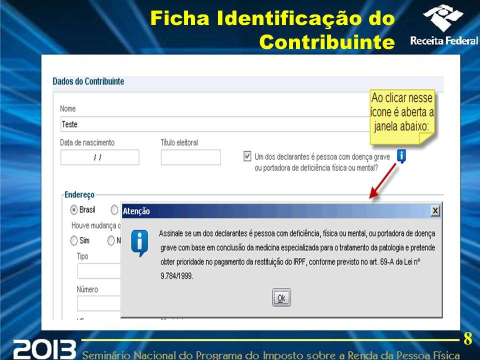 2013 Ficha Identificação do Contribuinte 8