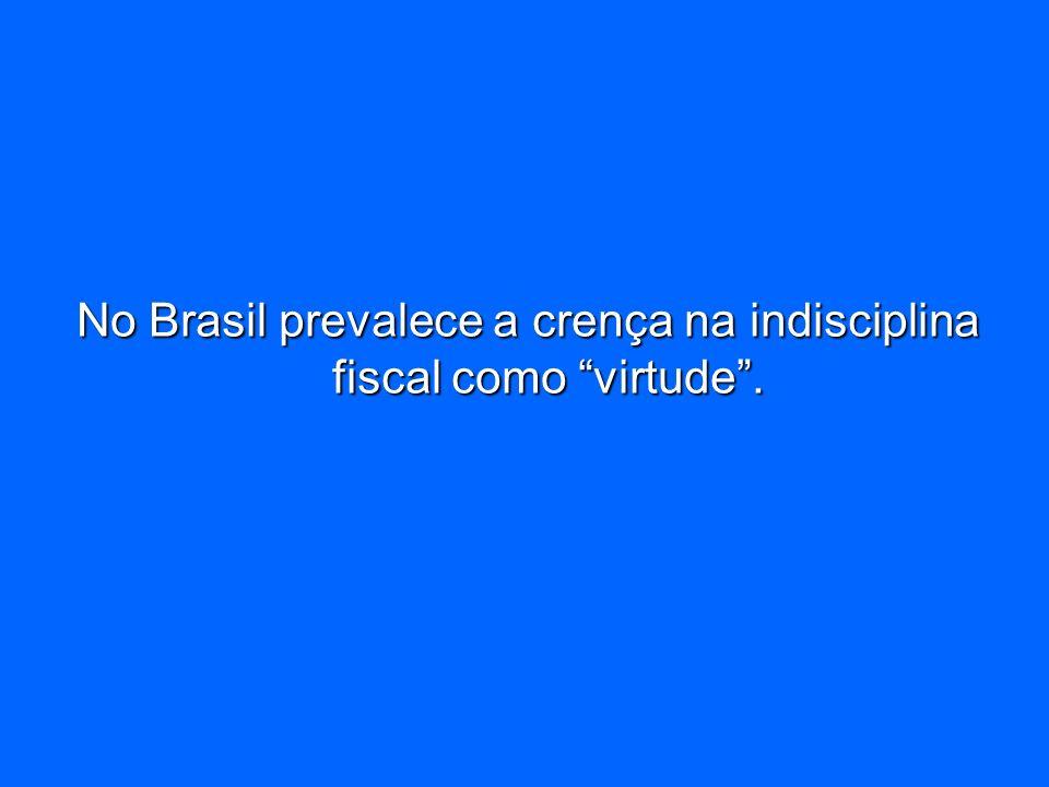 No Brasil prevalece a crença na indisciplina fiscal como virtude.