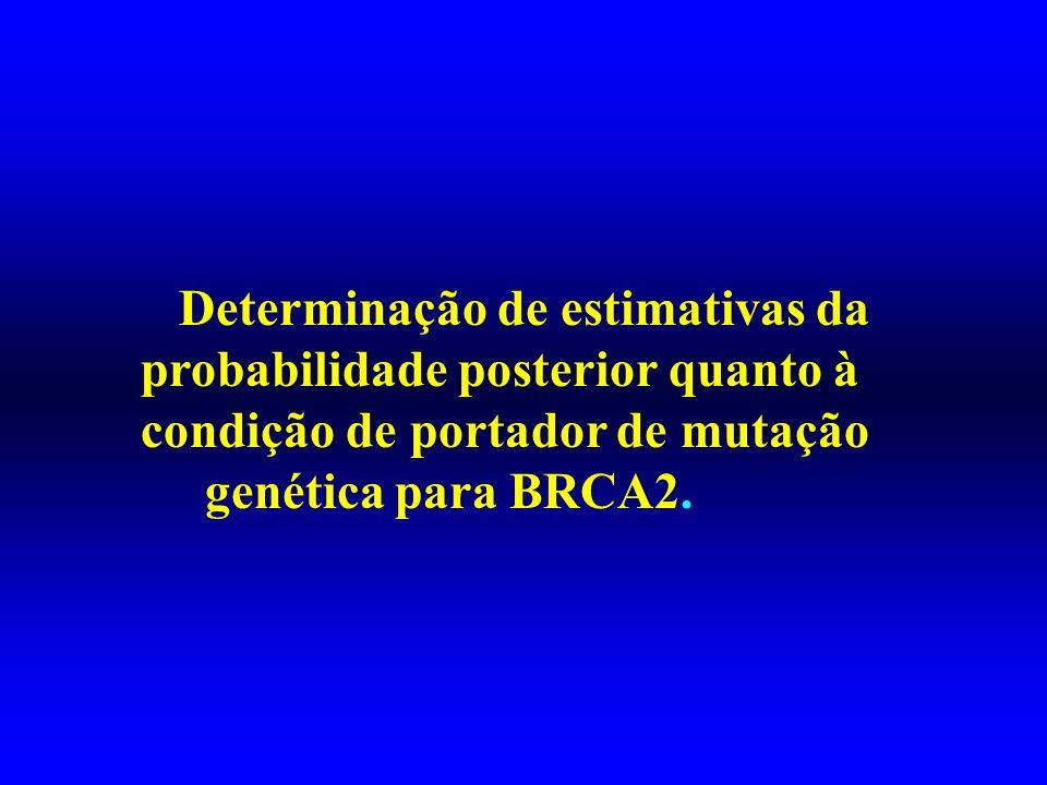 Determinação de estimativas da probabilidade posterior quanto à condição de portador de mutação genética para BRCA2.