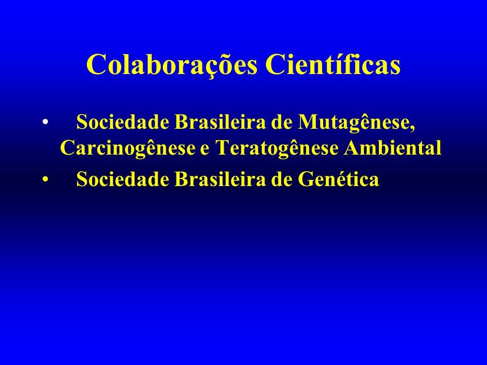 Colaborações Científicas Sociedade Brasileira de Mutagênese, Carcinogênese e Teratogênese Ambiental Sociedade Brasileira de Genética