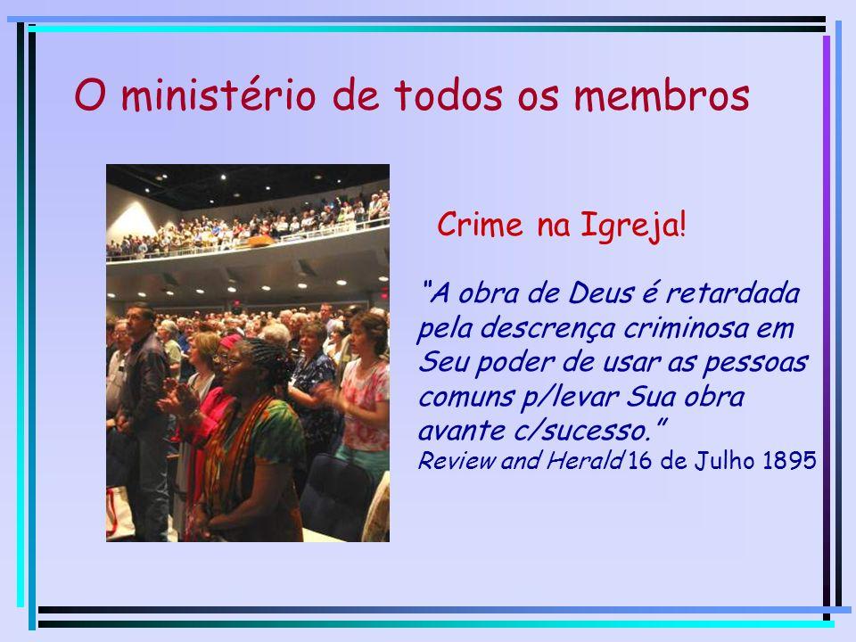 Autorizados Mat. 28:18-20 O ministério de todos os membros Escolhidos I Pedro 2:9,10 Capacitados Ef. 4:7,11,12 Criados Efésios 2:10 Enviados João 20:2
