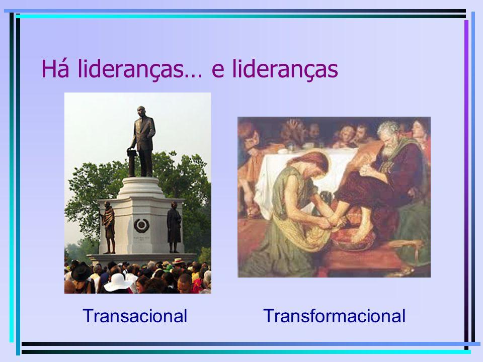A necessidade de liderança… …do tipo certo Vocês sabem que, no mundo, os reis são tiranos, e os chefes dão ordens aos seus subalternos.
