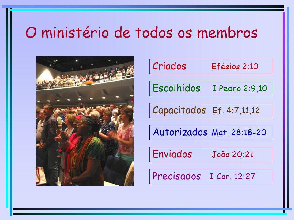 Fatores que limitam Ministério de todos os membros Multiplicação de líderes A seara é tão grande, mas os trabalhadores são poucos.