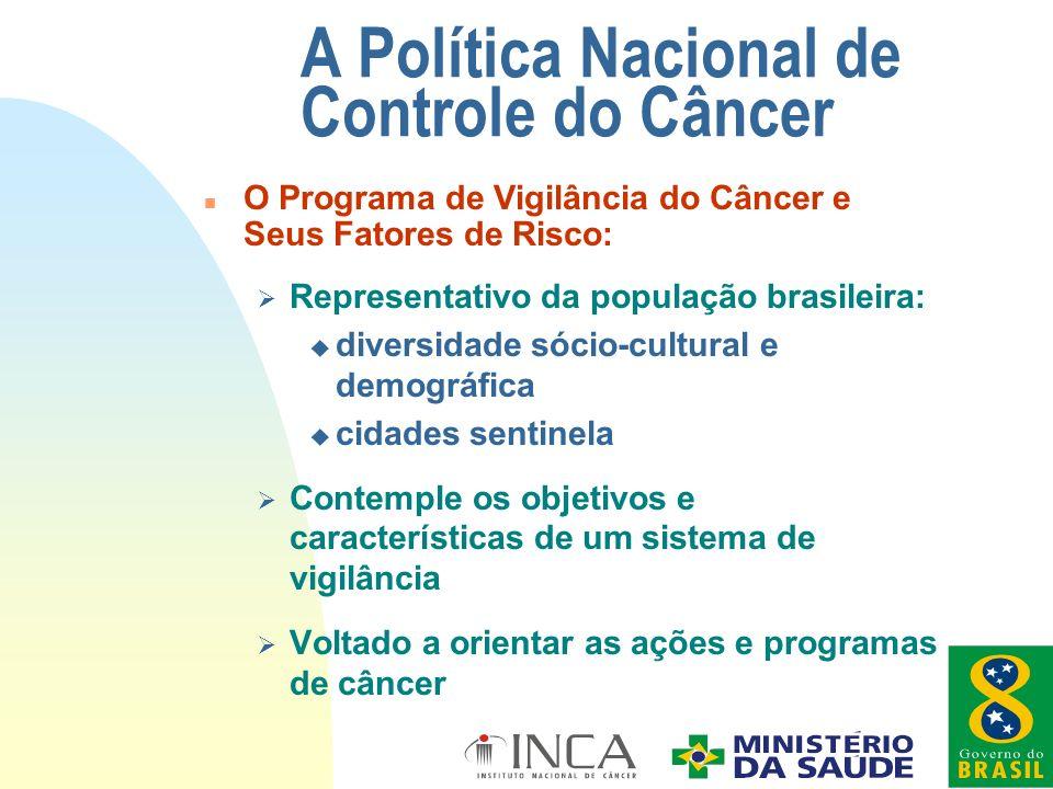 Ø Representativo da população brasileira: u diversidade sócio-cultural e demográfica u cidades sentinela Ø Contemple os objetivos e características de