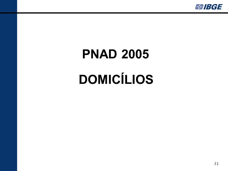 31 DOMICÍLIOS PNAD 2005
