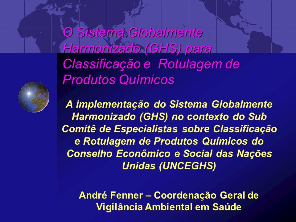 Reconhecimento Internacional Em 1989-90, a Organização Internacional do Trabalho elaborou e adotou uma Convenção (170) e uma Recomendação (177) sobre Segurança no Uso de Produtos Químicos no Trabalho.