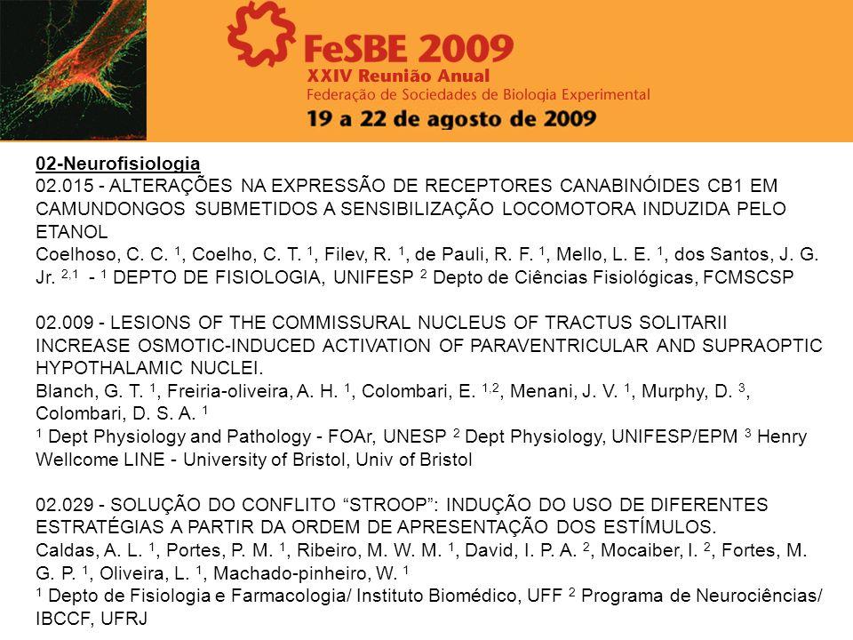 02-Neurofisiologia 02.015 - ALTERAÇÕES NA EXPRESSÃO DE RECEPTORES CANABINÓIDES CB1 EM CAMUNDONGOS SUBMETIDOS A SENSIBILIZAÇÃO LOCOMOTORA INDUZIDA PELO